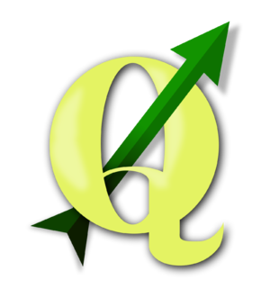 Logo graphic for the Quantum GIS free software...