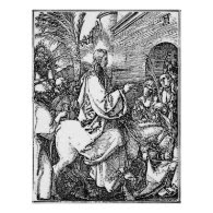 Jesus on the Donkey Palm Sunday Etching Print