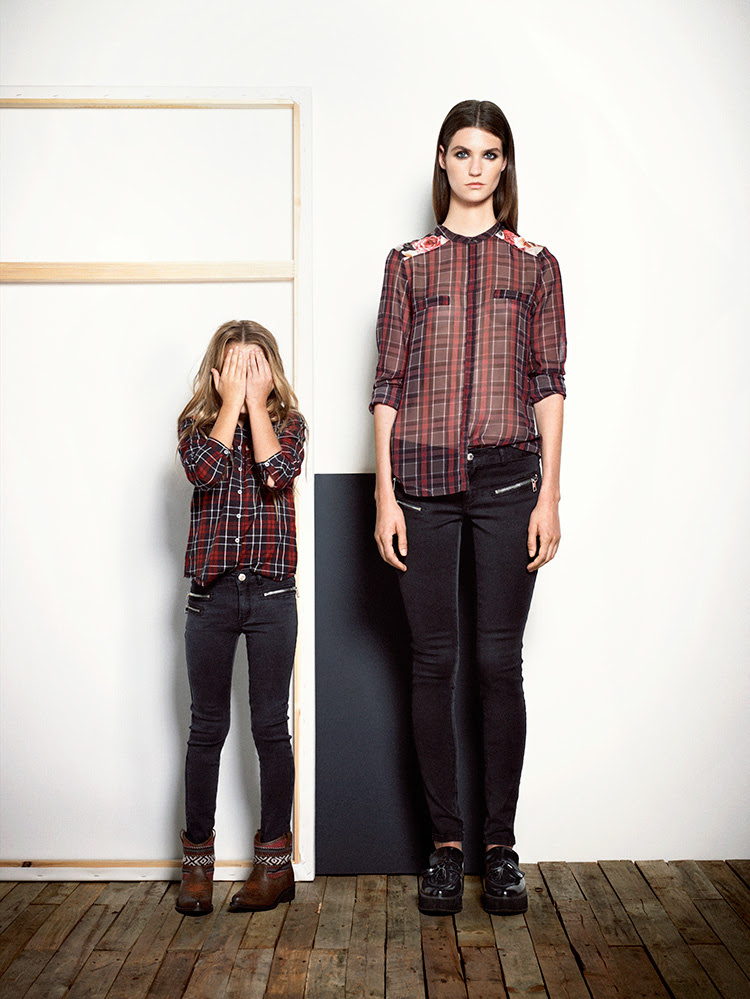 lookbooks  mango aw13 kids collection  girl in the