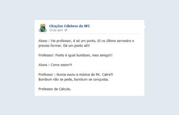 Fanpage Reúne Citações Célebres De Professores Da Ufc
