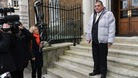 Steve Messham, one of the abuse victims in the North Wales children's home scandal, at Gwydyr House, the Wales Office on Whitehall,