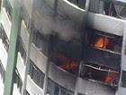 Incêndio atinge prédio residencial  (Reprodução/TV Globo)