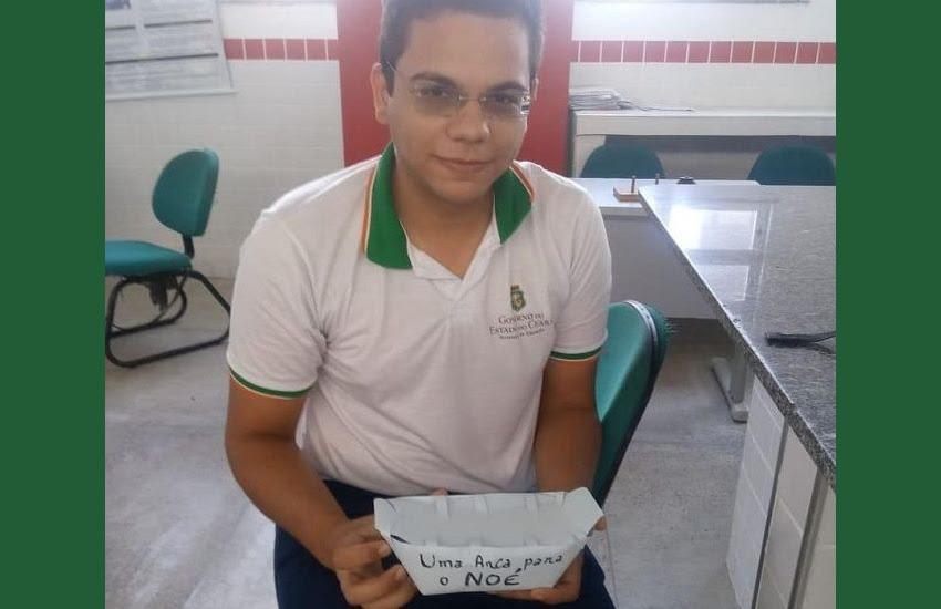 O estudante Noé deseja cursar ciências da computação (FOTO: Arquivo Pessoal)