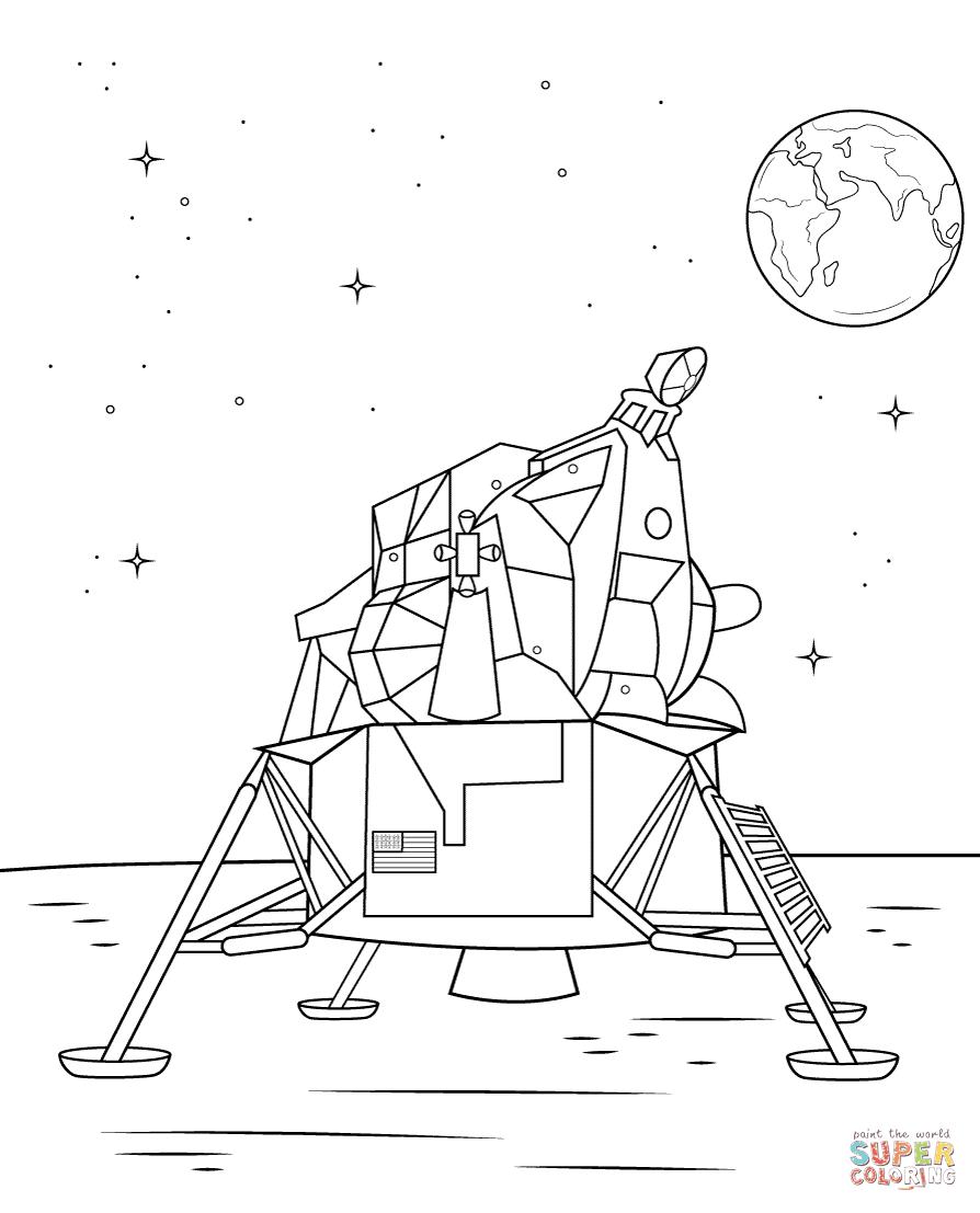 Élégant coloriage vaisseau spatial a imprimer  imprimer