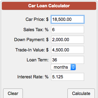 Auto Loan Calculator With Trade News Mortgage Information