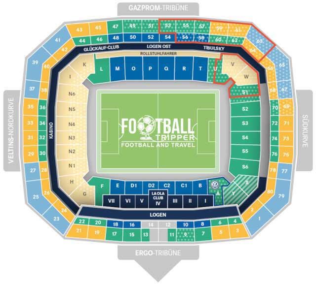 veltins arena schalke seating plan