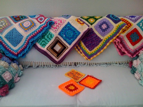 Three Bright Squares, we need our Sunglasses on for these! So bright! Great for our 'Sunniest Sunshine Blanket Ever!'.