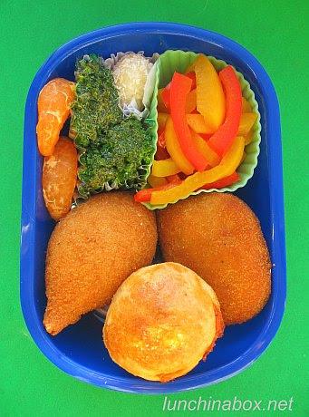 Brazilian salgadinhos lunch for preschooler