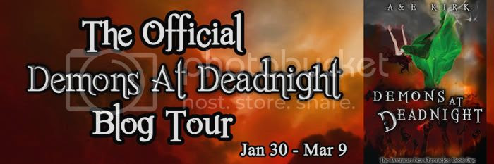 Demons at Deadnight Blog Tour Banner