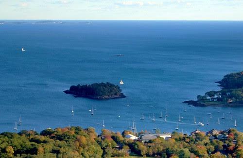 Curtis Island from Mount Battie