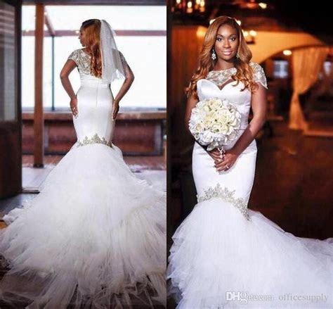 2018 African Nigeria Traditional Wedding Dresses Crystal
