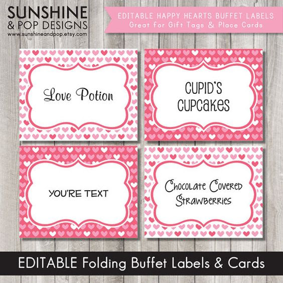 Editable Valentines Day Tags