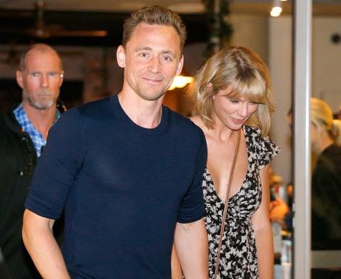 Tom Hiddleston and Taylor Swift leave restaurant 'Gemelli Italian' in Broadbeach on the Gold Coast, Queensland.