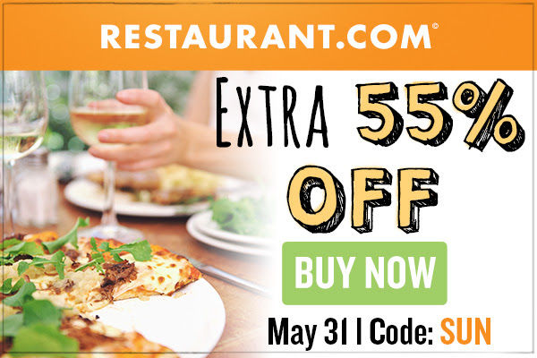 Restaurant.com Weekly Promo Offer 300 X 200