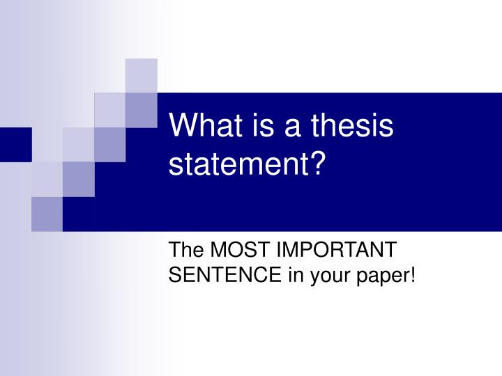 what is a thesis statement powerpoint