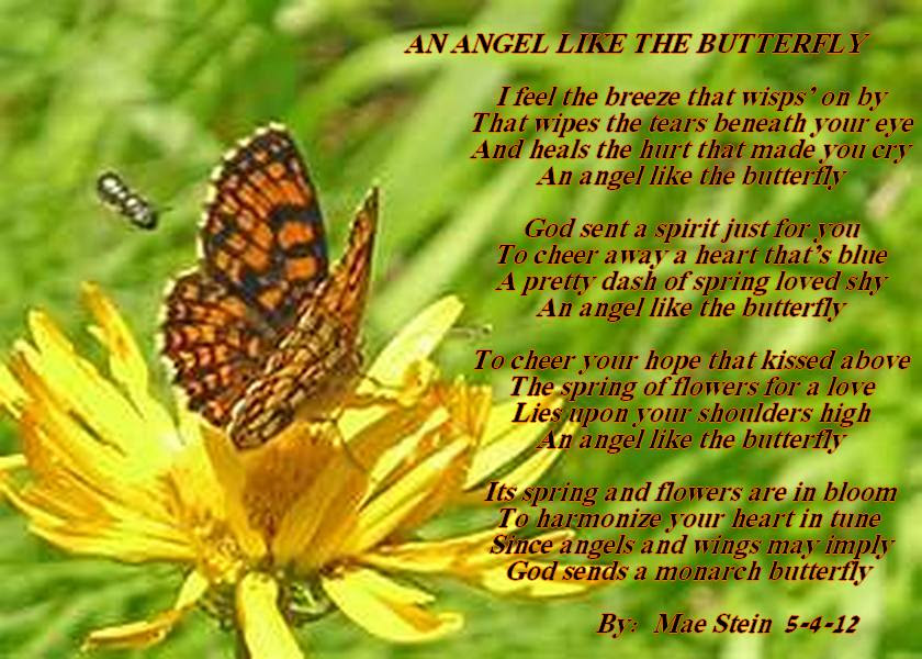 Butterfly And Angels Poem Green Communities Canada