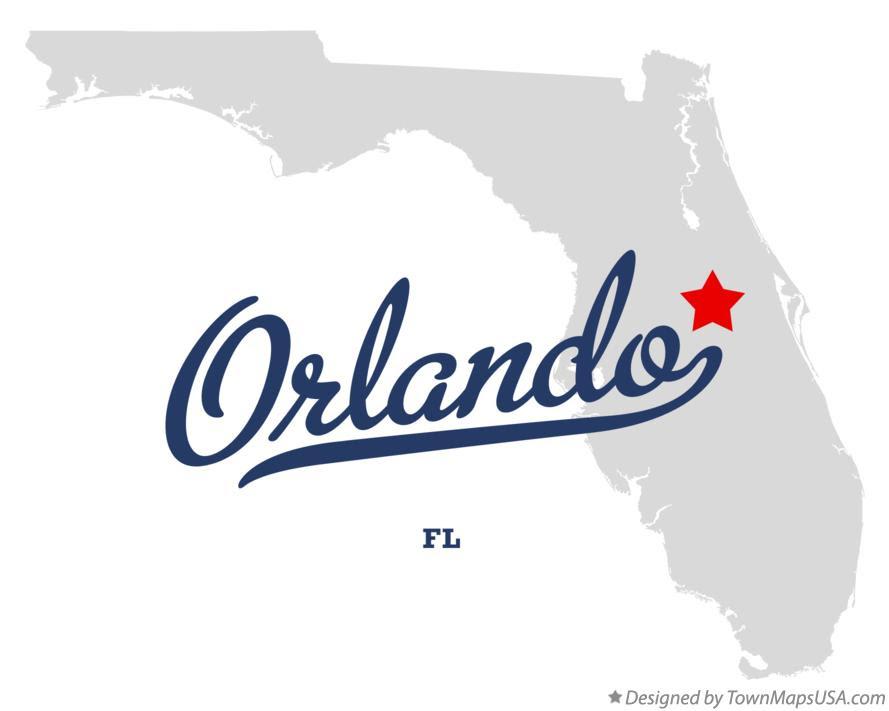 Map Of Orlando Fl Florida