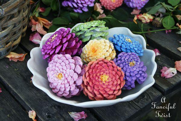 Pinecone flowers 3
