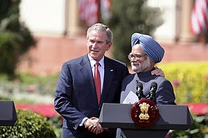 President George W. Bush and India's Prime Min...