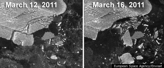 Japan Earthquake Icebergs Antarctica