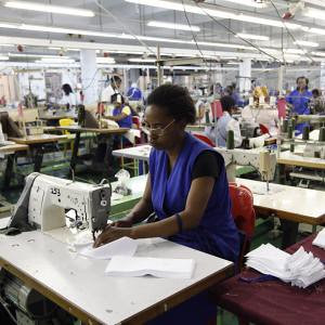 South African garment workers at the Zenzeleni factory in Durban. The industry has been affected by the labour unrest sweeping the country. by Pan-African News Wire File Photos