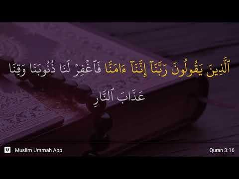 Doa Orang Yang Bakal Mendapatkan Syurga Ayat 16 Surah Ali Imran