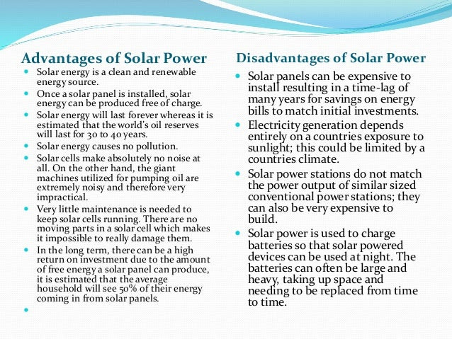 Solar Energy Installation Panel Advantages And