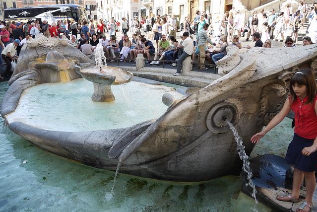 Fontana della Barcaccia 破船噴泉