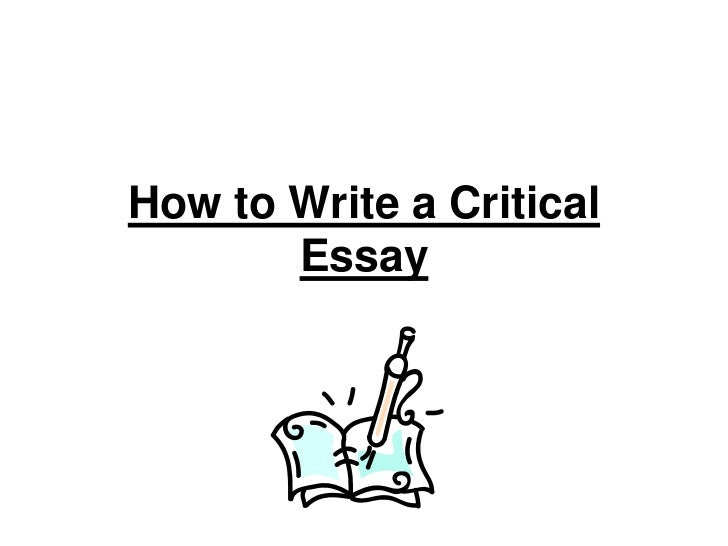 how to write a critical analysis essay background