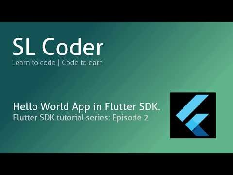 slcoder - Ego with Coding: Flutter and Dart develop a hello world