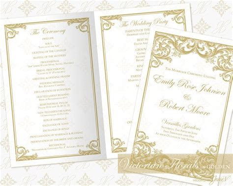 Best 25  Wedding Ceremony Program Template ideas on