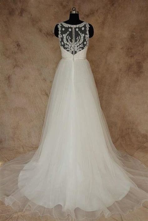 Plus Size Bridal Gown with sheer shoulder straps