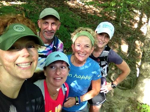 Trail group selfie.