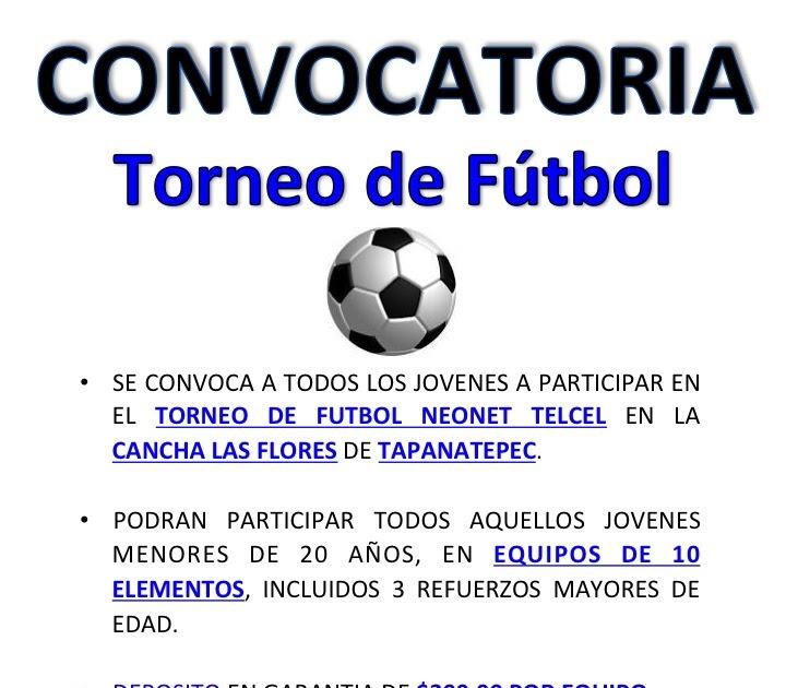 Torneo Neonet Convocatoria 2012San Tapanatepec De Futbol Pedro qAc5R34jL
