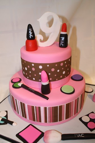Make Up girl cake by Carla's Cake Creations.