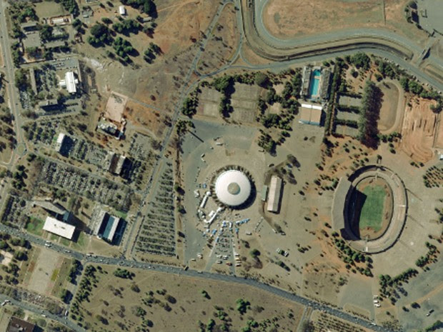 Estádio Nacional, em Brasília, em foto feita em 2010 (Foto: Base Aerofotogrametria)