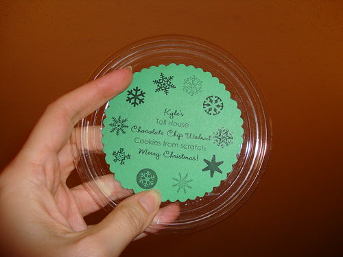 Extra close up cookie tag & lid