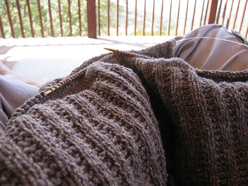 outdoor knitting