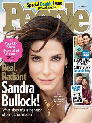 Sandra Bullock na capa da revista 'People' (Foto: Divulgação)