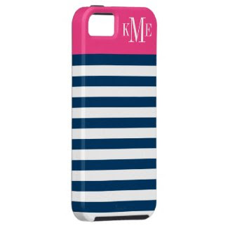 Bold Stripe & Monogram | Apple iPhone 5 Case Cover