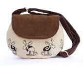 Medium size bag, Reindeer Christmas Purse, Gift for Xmas - SimplyBoheme