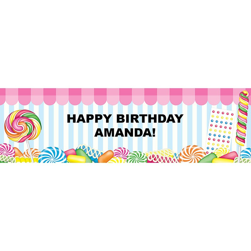 Candy Shoppe Personalized Banner