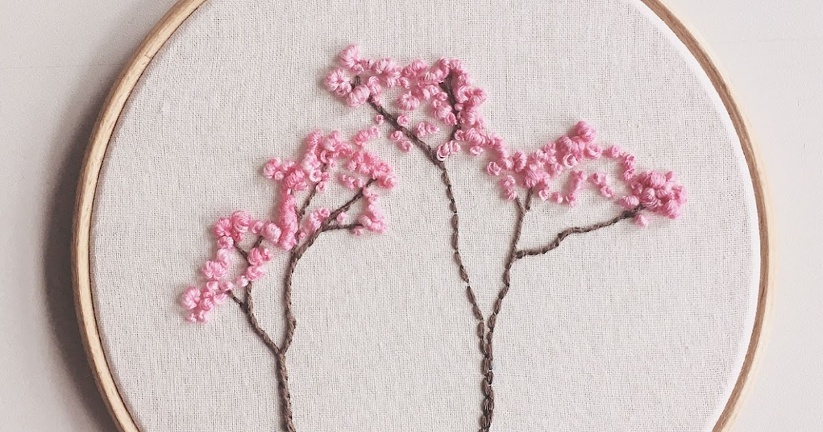 Flower Stem Stitch Embroidery Designs Easy Embroidery
