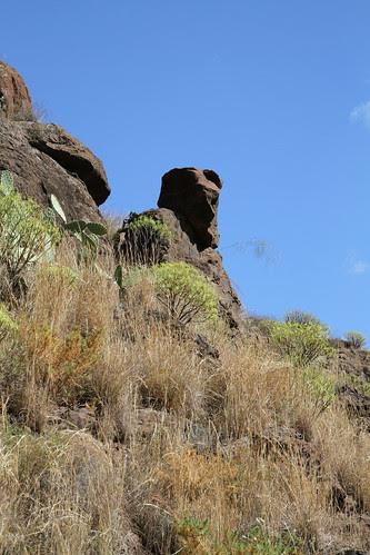 Rock man near Patral Grande