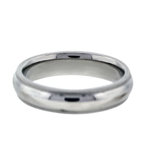 14k White Gold Milgrain Mens Wedding Band Ring Boca Raton