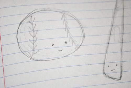 baseball sketches