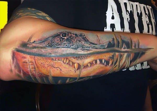 60 Alligator Tattoo Designs For Men - Cool Crocodiles