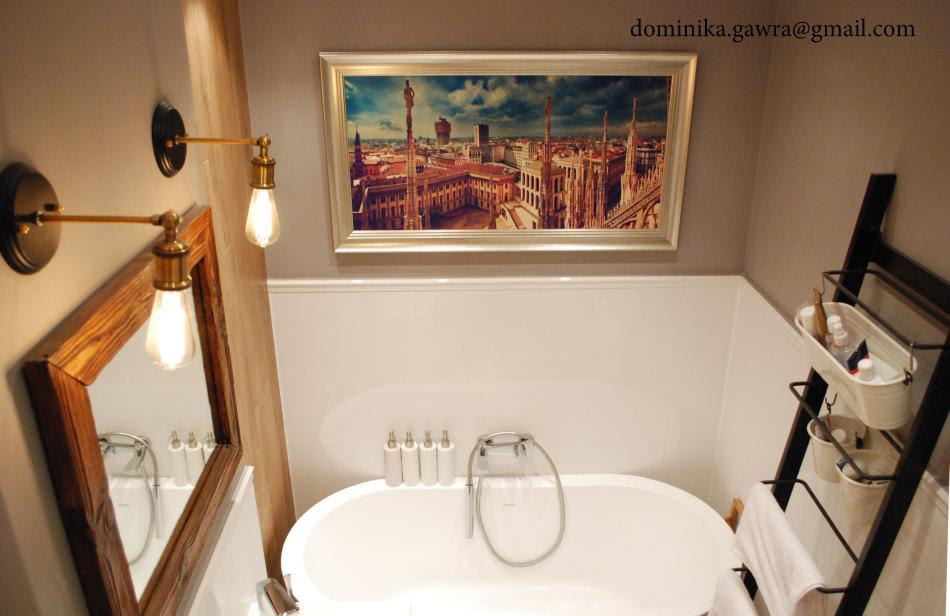Dominika G - galeria - Białe płytki do połowy ściany w ...