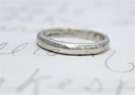 simple wedding ring band . recycled silver womens by