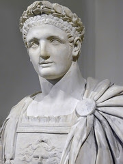 Bust of the Roman Emperor Domitian 1st century...